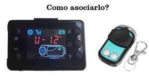 manual como asociar mando calefaccion estacionaria remote pairing mando negro garaje pantalla lcd negra cuadrada estatica calefaccion