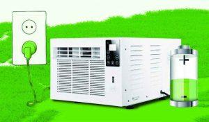 aire acondicionado autonomo con bateria interna alternativa zero breeze 220v 12v