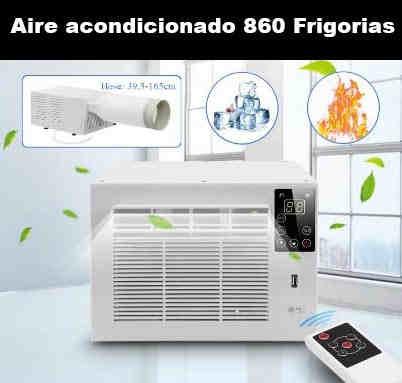 Aire acondicionado mini pequeño compacto 1000w 800 frigorias 12v 220v bajo consumo caravana autocaravana camper