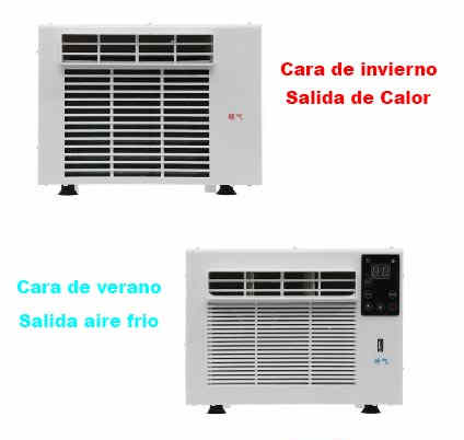 Aire acondicionado mini pequeño compacto 1000w 800 frigorias 12v 220v bajo consumo caravana autocaravana camper con bomba de calor