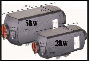 medidas calefaccion estacionaria china size 2kw 5kw diferencias