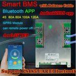 bms inteligente 120a 4s 12v bluetooth