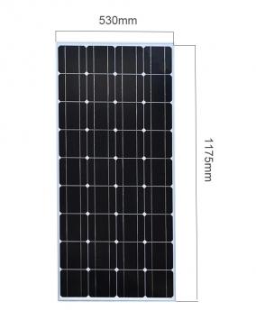 panel solar rigido 100w monocristalino cristal templado